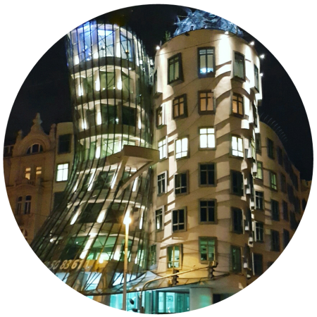 "Frank Ghery's ""Ginger & Fred' building in Prague @prtaserie"