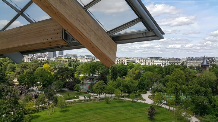 Bois de Bologne view from Louis Vuitton Paris @pratserie
