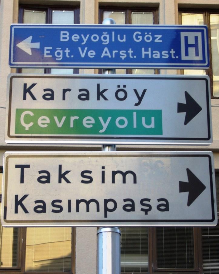 Istanbul street signs @pratserie