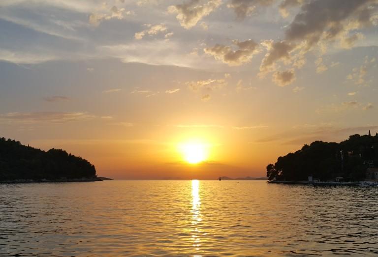 sunset in Cavtat, Croatia @pratserie
