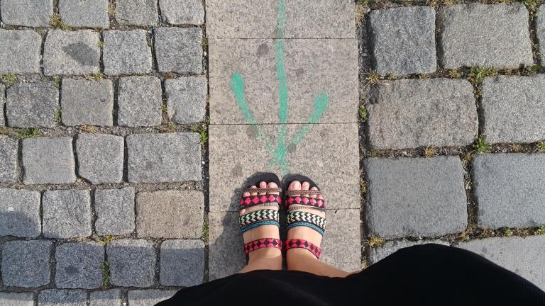 sandália colorida @pratserie