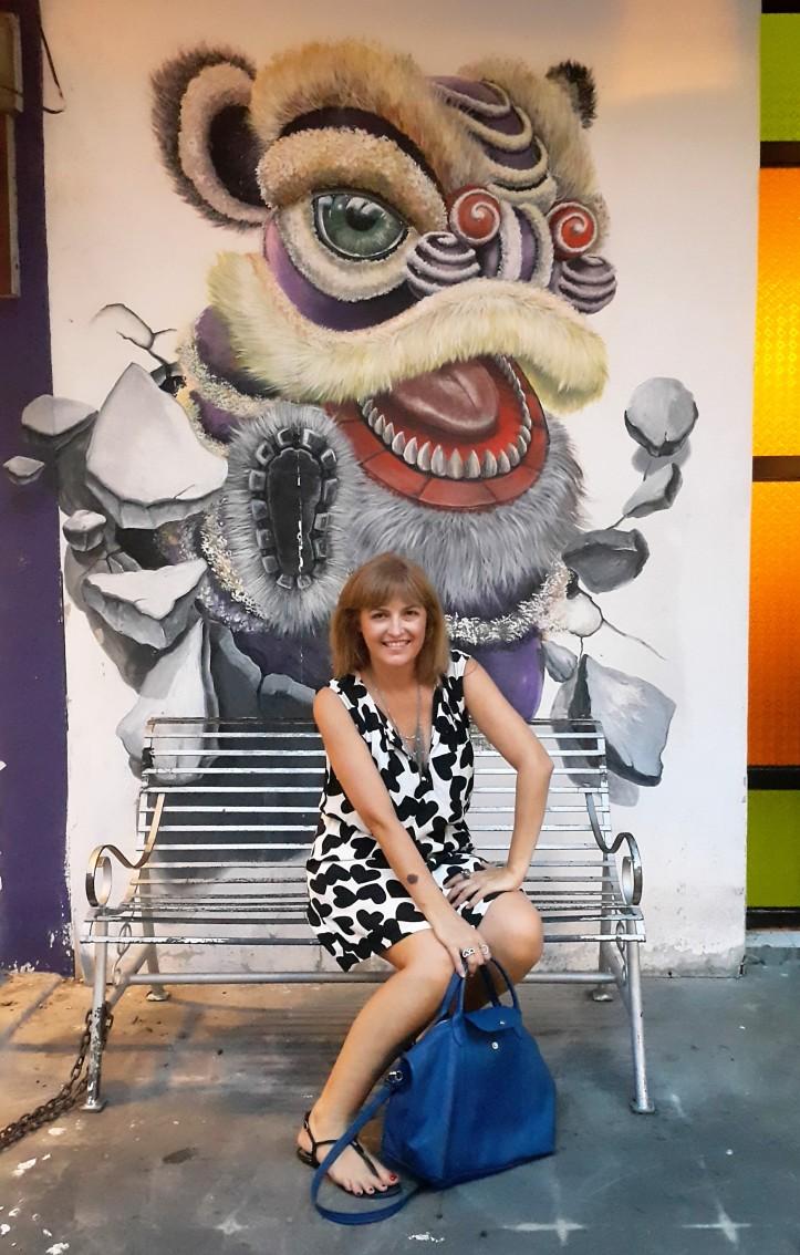 Fernanda Prats - arte de rua - Malaáia