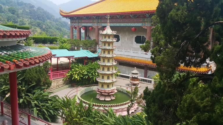Pátio interno - templo Malásia @pratserie