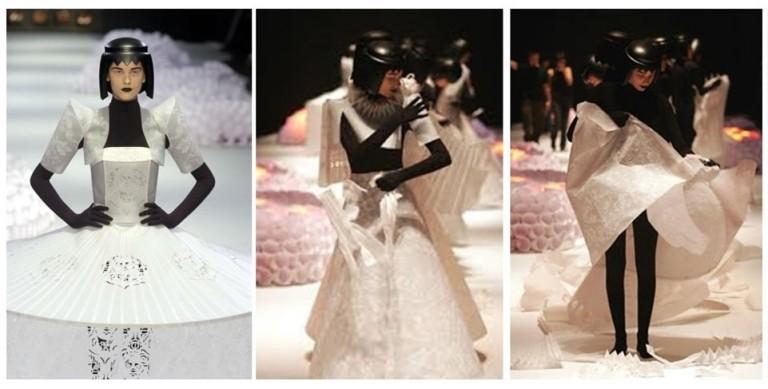 Desfile icônico - roupas de papel - Jun Nakao -SPFW