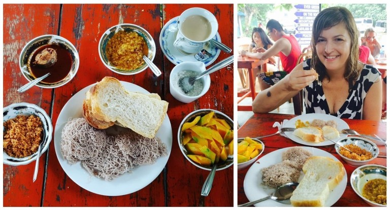 Café da manhã no Sri Lanka @pratserie