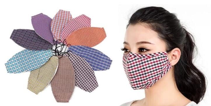 Vietnã e a moda - máscara com ajuste no nariz em diferentes opções.
