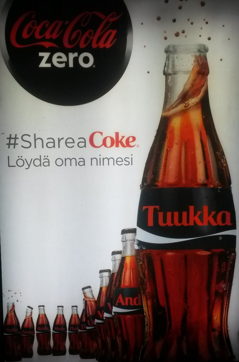 Curious names on the Coke bottle -Helsinki - Finland @pratserie