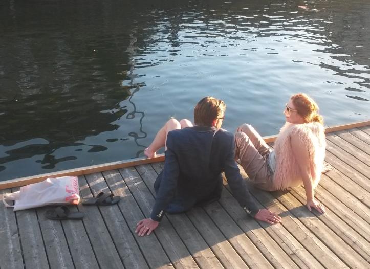 Couple at the deck - Copenhagen @pratserie