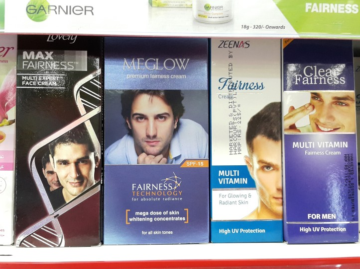 Bleaching beauty products for men