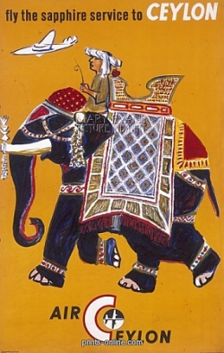 Ceylon elephant poster - Stick no Bills Sri Lanka