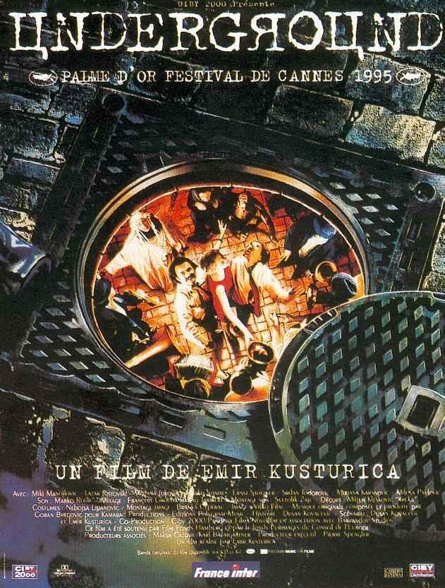 Cartaz do filme Undergroud de Emir Kusturica