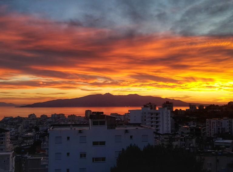 Corfu island - view from Saranda, Albania @pratserie