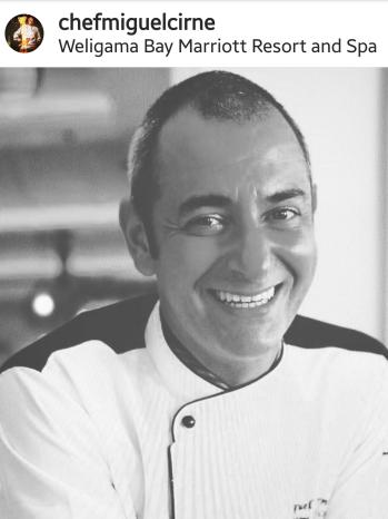 Portuguese chef Miguel Azeredo Cirne