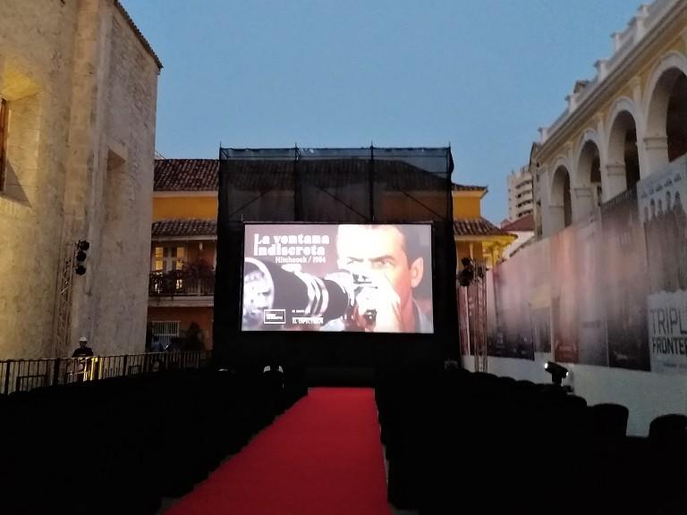 festival de cartagena - filme ao ar livre