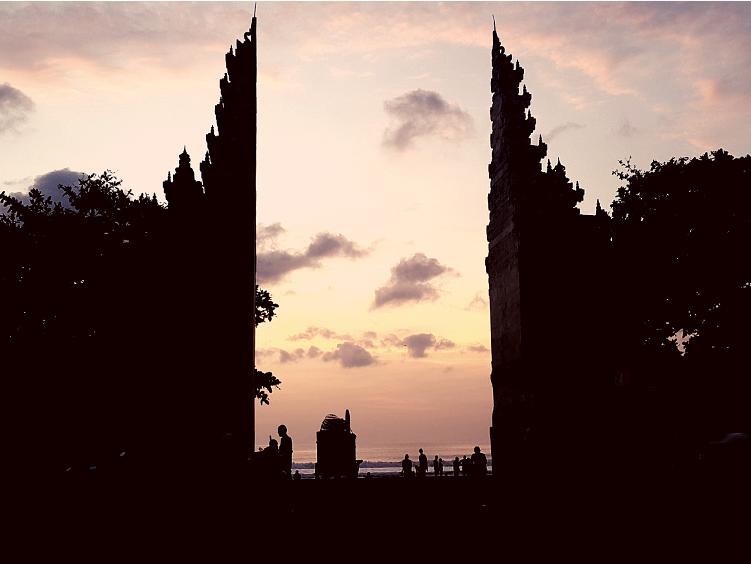 pôr de sol em Bali @pratserie