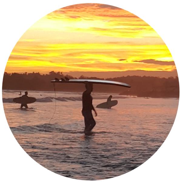 surf e pôr de sol @pratserie